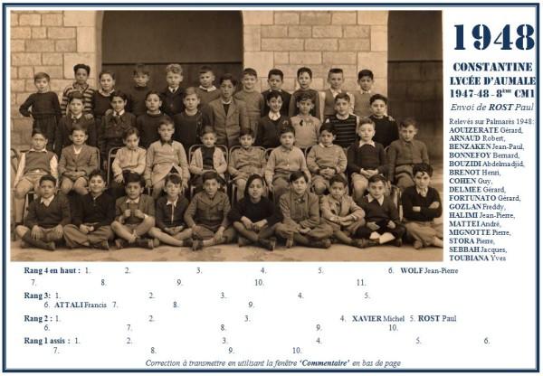 Une-Aumale-1947-48-8e-CM1-Paul-ROST