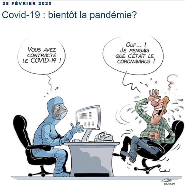 CaptureOuf je croyais le coronavirus Coté Canada
