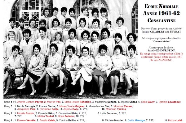 Une-EN Filles 1961-62-