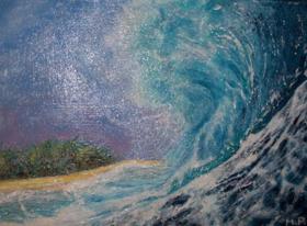 Vague Michèle BIANCO- Une vague me déposa sur une autre rive 2 Réduit